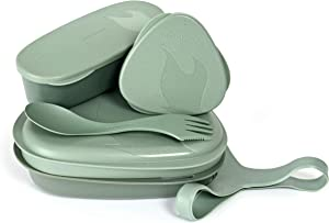 Light My Fire 6-Piece LunchKit BIO Mess Kit with Bowl, Plate, Spork and Storage Containers