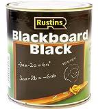 Rustins Peinture tableau noir Séchage rapide Noir 1 l