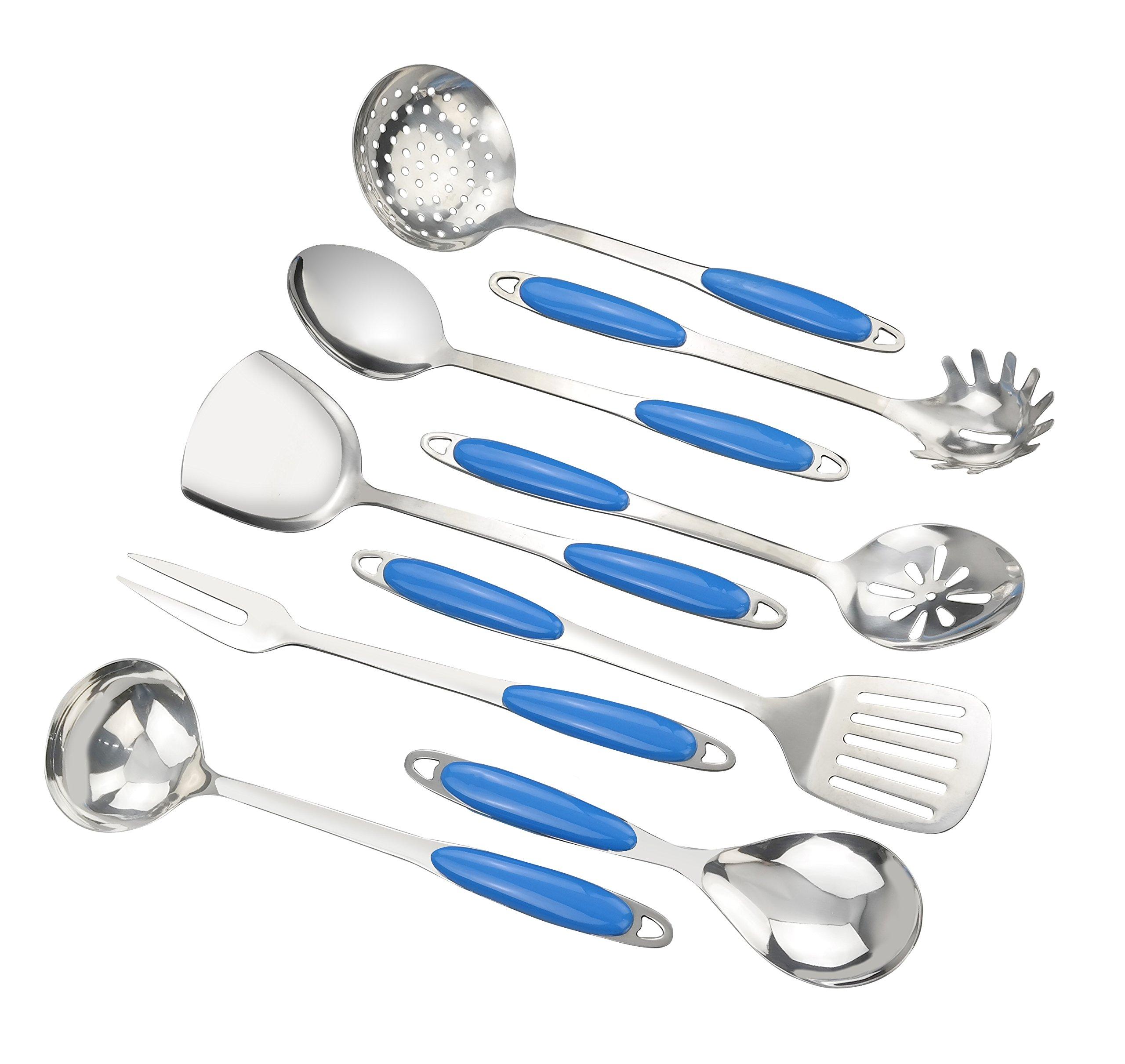 Ggbin Kitchen Utensil Set, Cooking Utensils Stainless Steel Kitchen Gadgets, 9-Piece, F