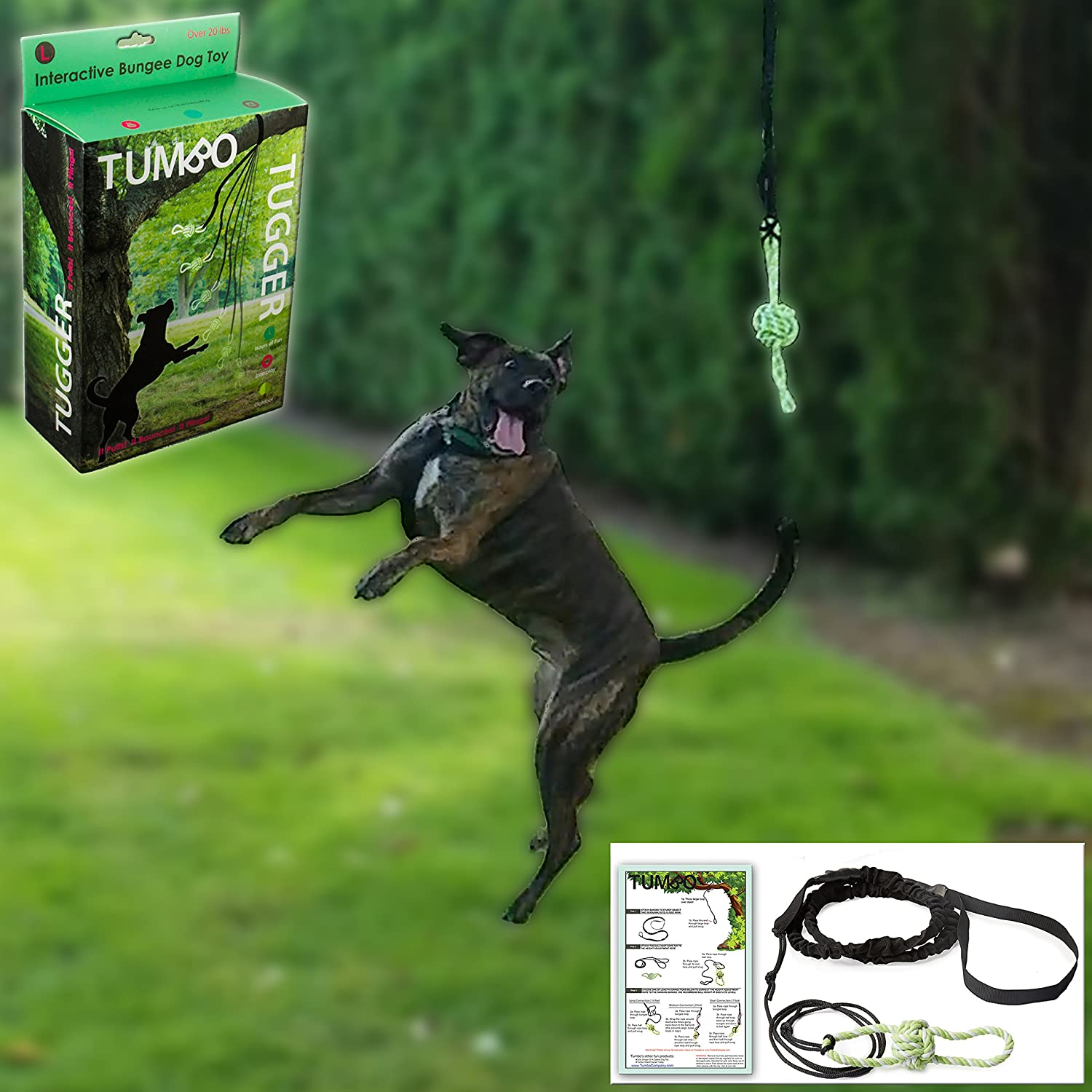 Tumbo Tugger Outdoor Doggie Bungee Rope Toy