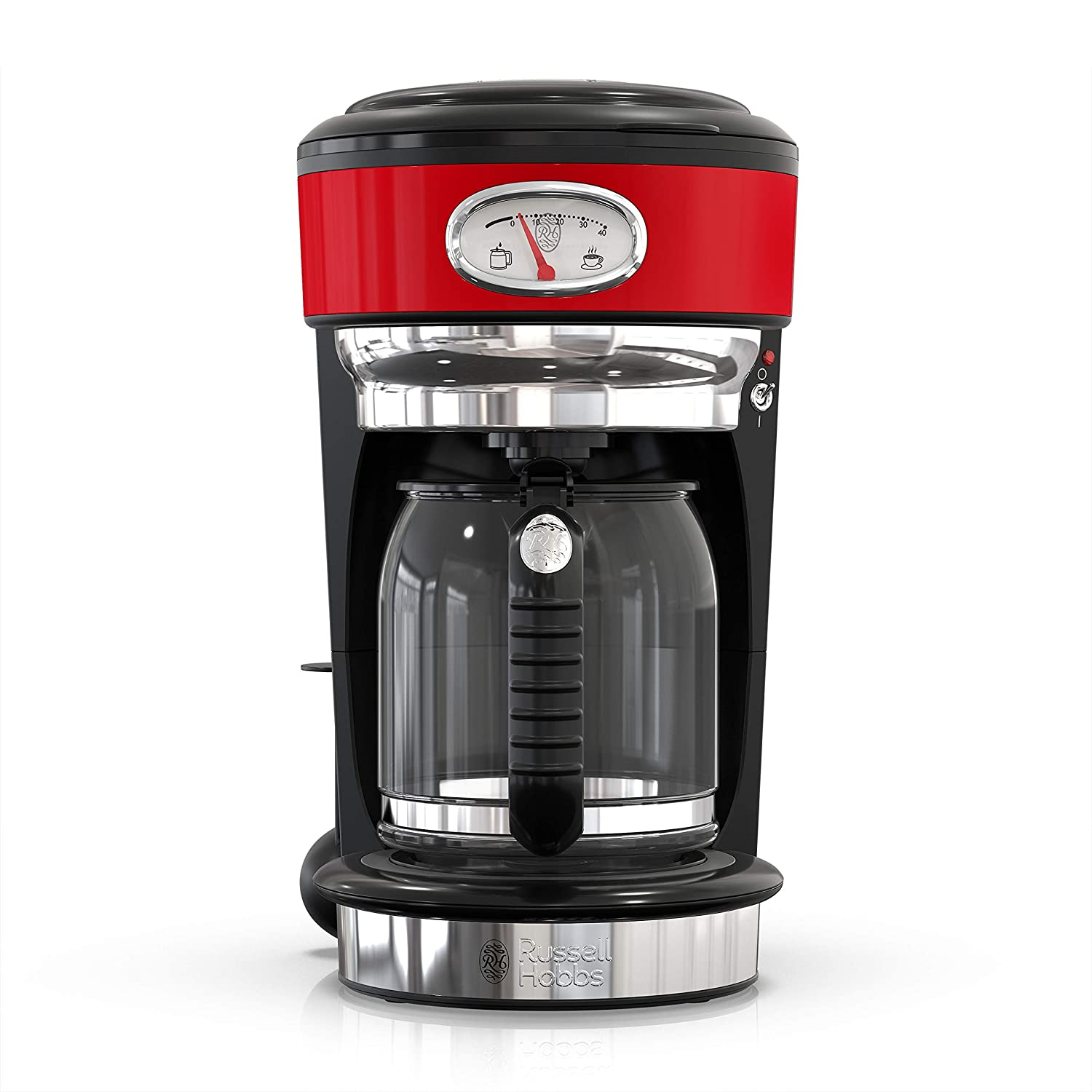 Russell Hobbs CM3100RDR Retro Style Coffeemaker 8-Cup Red