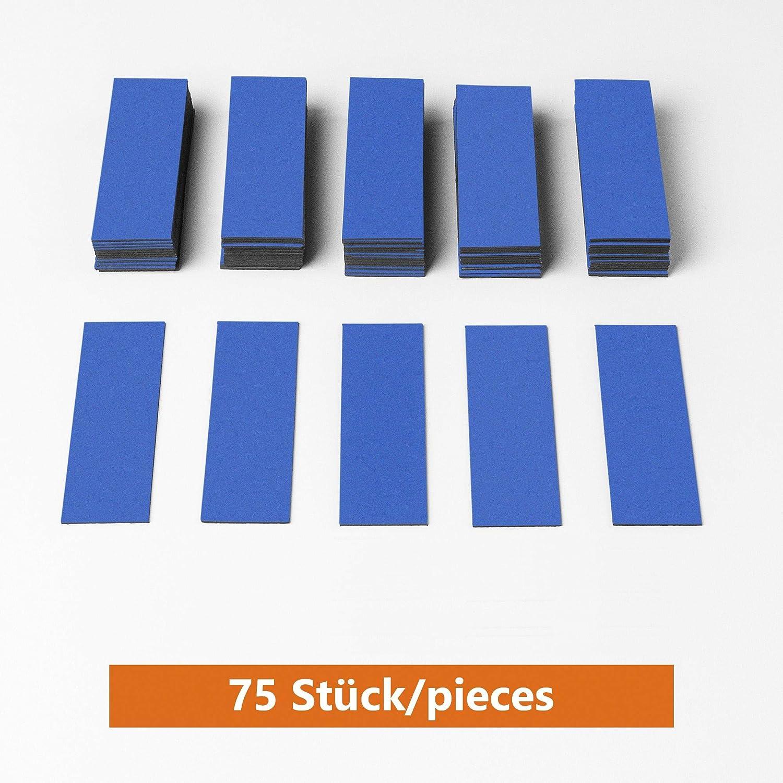 ECENCE 75 Etichette magnetiche scrivibili frigoriferi Etichette magnetiche per lavagne Bianche lavagne 31040103 Strisce adesive tagliabili 60x20mm Bianco cartellini magnetici cancellabili