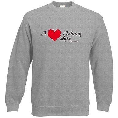 getshirts - Die Grillshow - The Shop - Sweatshirt - Grillshow I love Johnny  style -