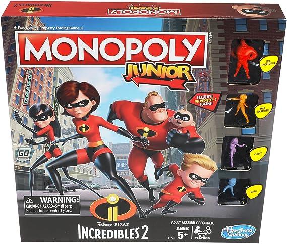 Hasbro Monopoly Junior Game: Disney/Pixar Incredibles 2 Edition: Amazon.es: Juguetes y juegos