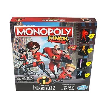 Hasbro Monopoly Junior Game Disney Pixar Incredibles 2 Edition