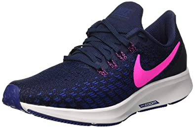 NIKE Air Zoom Pegasus 35, Womens Running, Multicolored (Obsidian/Pink Blast/