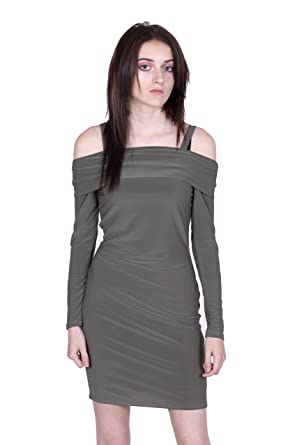 45a5181611a1 Womens Off Shoulder Strappy Key Hole Mini Bodycon Dress  Amazon.co ...