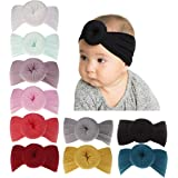 inSowni Boutique Stretch Bow Ear Turban Headbands Set for Baby Girl Toddlers Kids