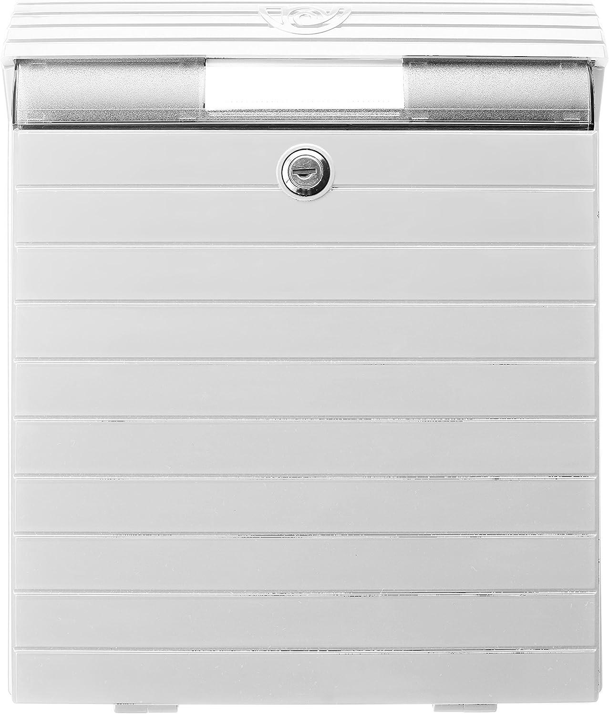 Tatay 0043007 Buzón Grande de Exterior de Gran Resistencia y Durabilidad, Plástico ABS, Blanco, 380 x 300 x 126 mm
