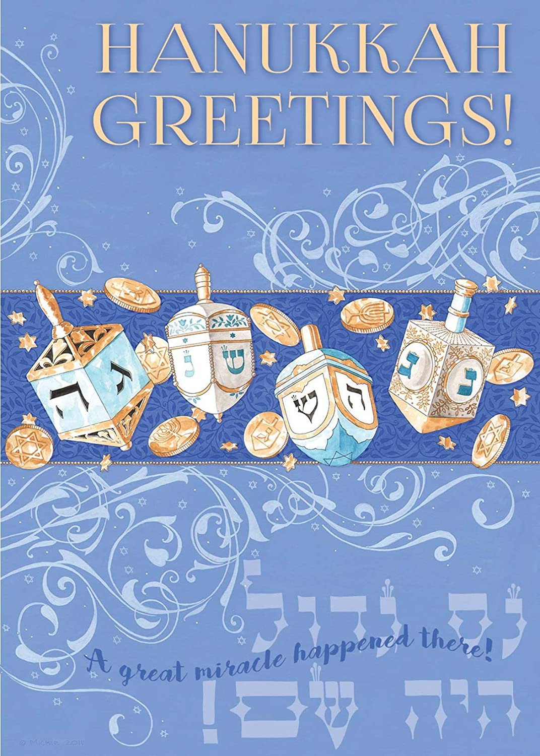 Amazon Hanukkah Package Cards Holiday Greeings By Mickie Caspi