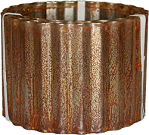 Corrugated Metal Landscape Edging (6in W x 10ft L, Rusted)