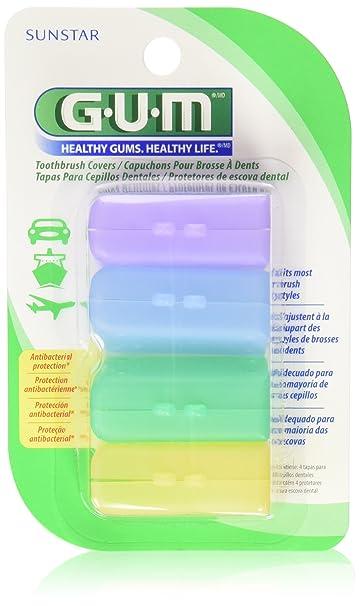 Butler Gum Toothbrush Anti Bacterial Covers   152RA , 743377 (Pack Of 3)