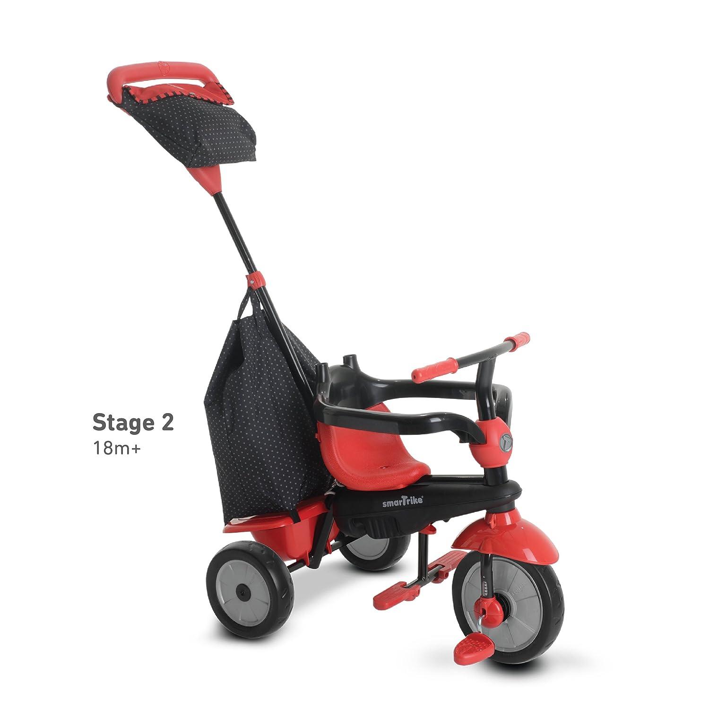 SMARTRIKE 6951500 - Glow Touch Steering 4 en 1 Triciclo, color rojo: Amazon.es: Juguetes y juegos