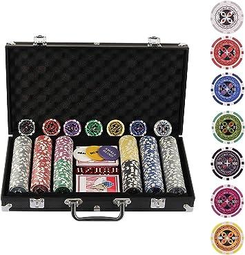 Display4top Juego de póquercon 300 Chips Láser 12 Gramos Núcleo de ...