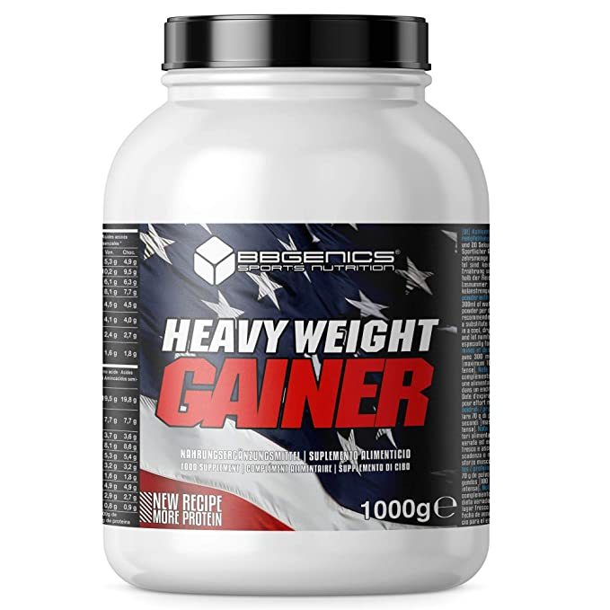 Heavy Weight Gainer, hidratos de carbono y proteínas, suplementos dietéticos BBGENICS, 2000g chocolate