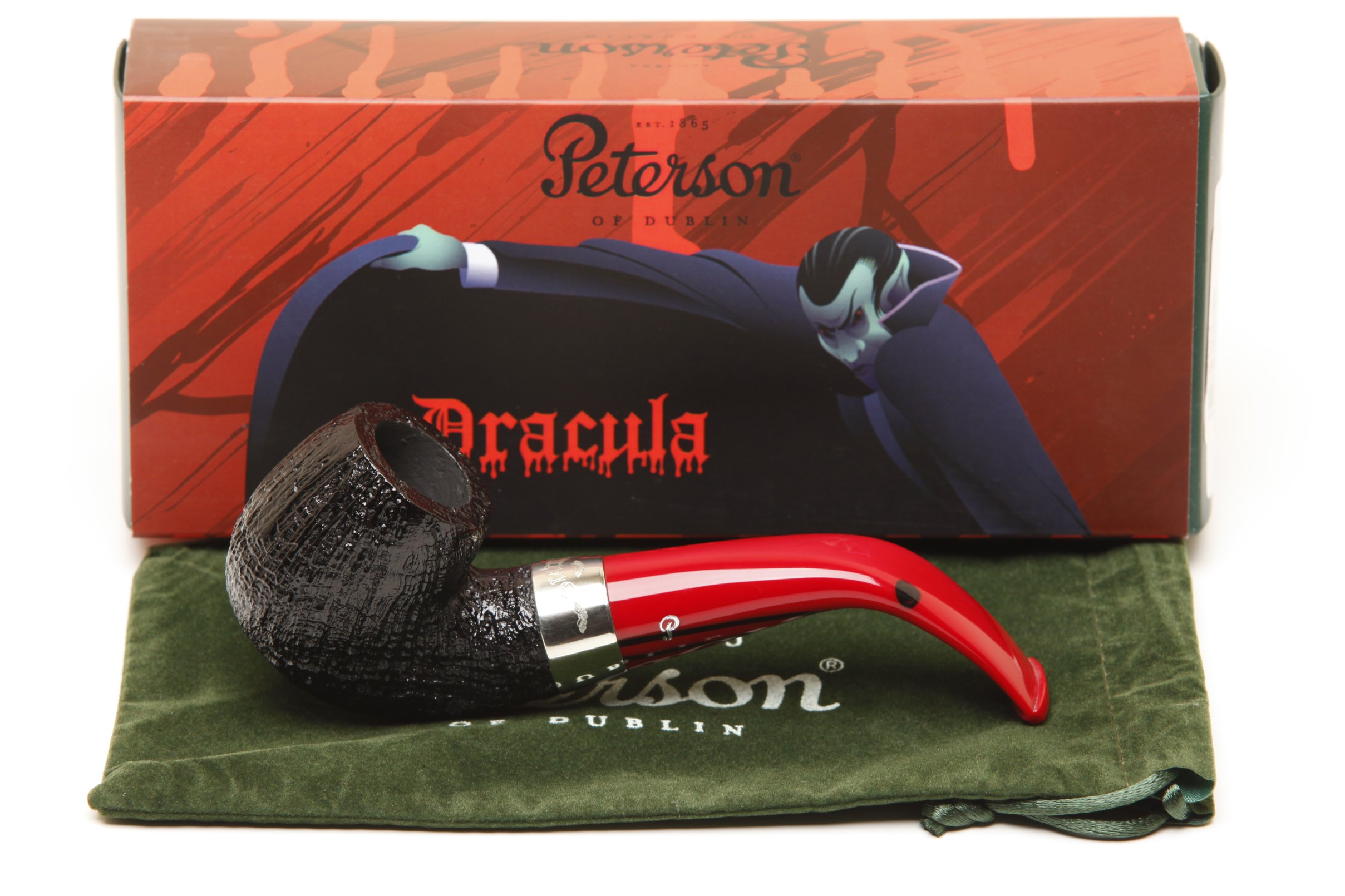 Peterson Dracula 221 Sandblast Fishtail Tobacco Pipe
