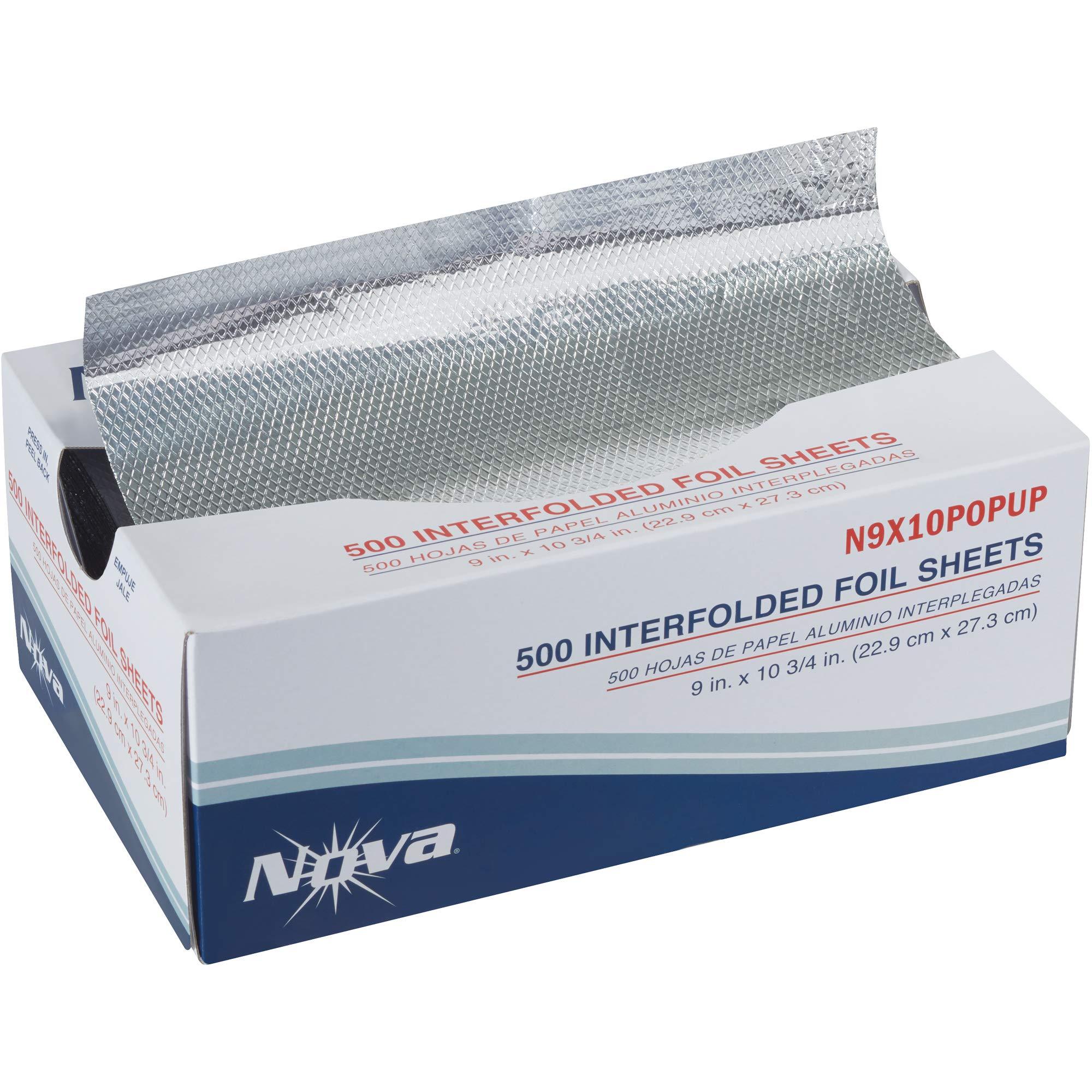 Aluminum Foil Pop-Up Sheets, 9 x 10 3/4'', Silver, 500/Case