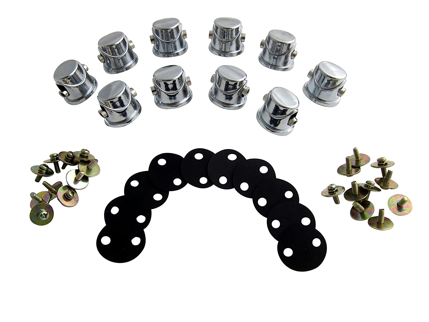 Goedrum 10 Double End Tom / Snare Drum Lugs with Gaskets Screws for 7~11mm Drum Shell Goe-9574