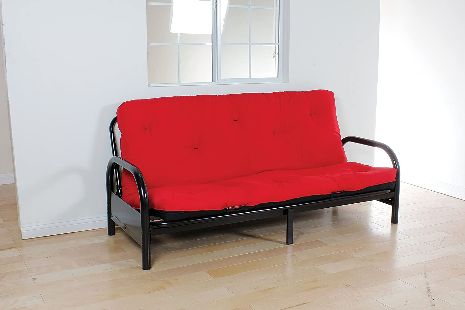 ACME 02812 8-Inch Futon Mattress, Full, Red/Black Acme Furniture