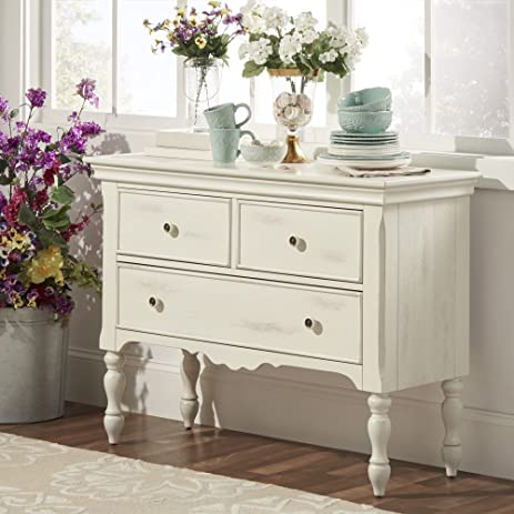INSPIRE Q McKay Country Antique White Buffet Storage Server By Classic