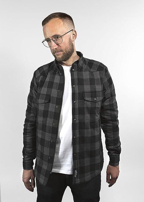 John Doe Unisex Erwachsene Motoshirt Grey Black Hemd Auto