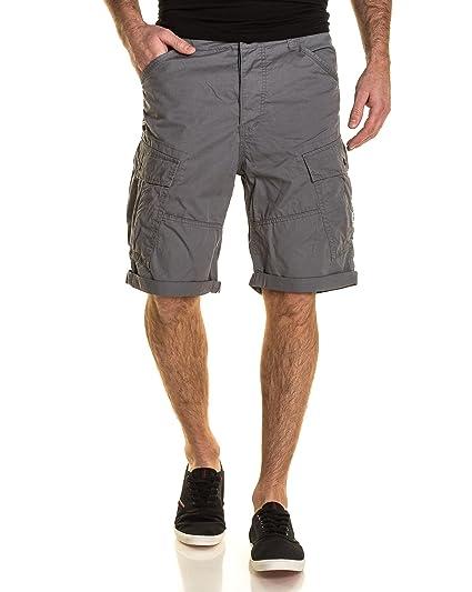 a4a9ace48d61 Deeluxe 74 - Short homme cargo gris medium - couleur  Gris - taille ...
