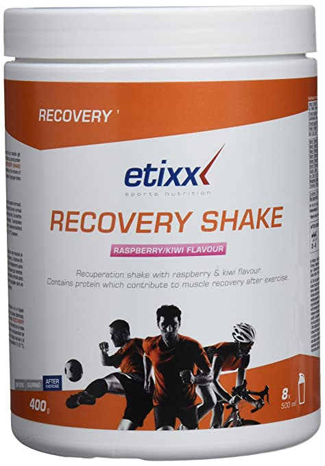 Etixx Recovery Shake con Sabor a Raspberry y Kiwi - 400 gr