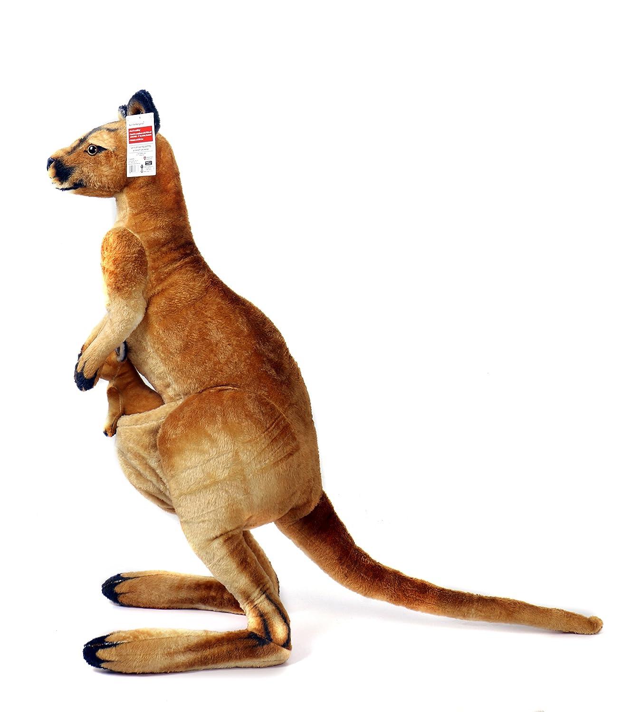 amazon com kari the kangaroo and joey 3 foot big stuffed animal