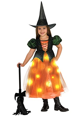 childs twinkle witch costume with fiber optic twinkle skirt small - Kids Halloween Costumes Amazon