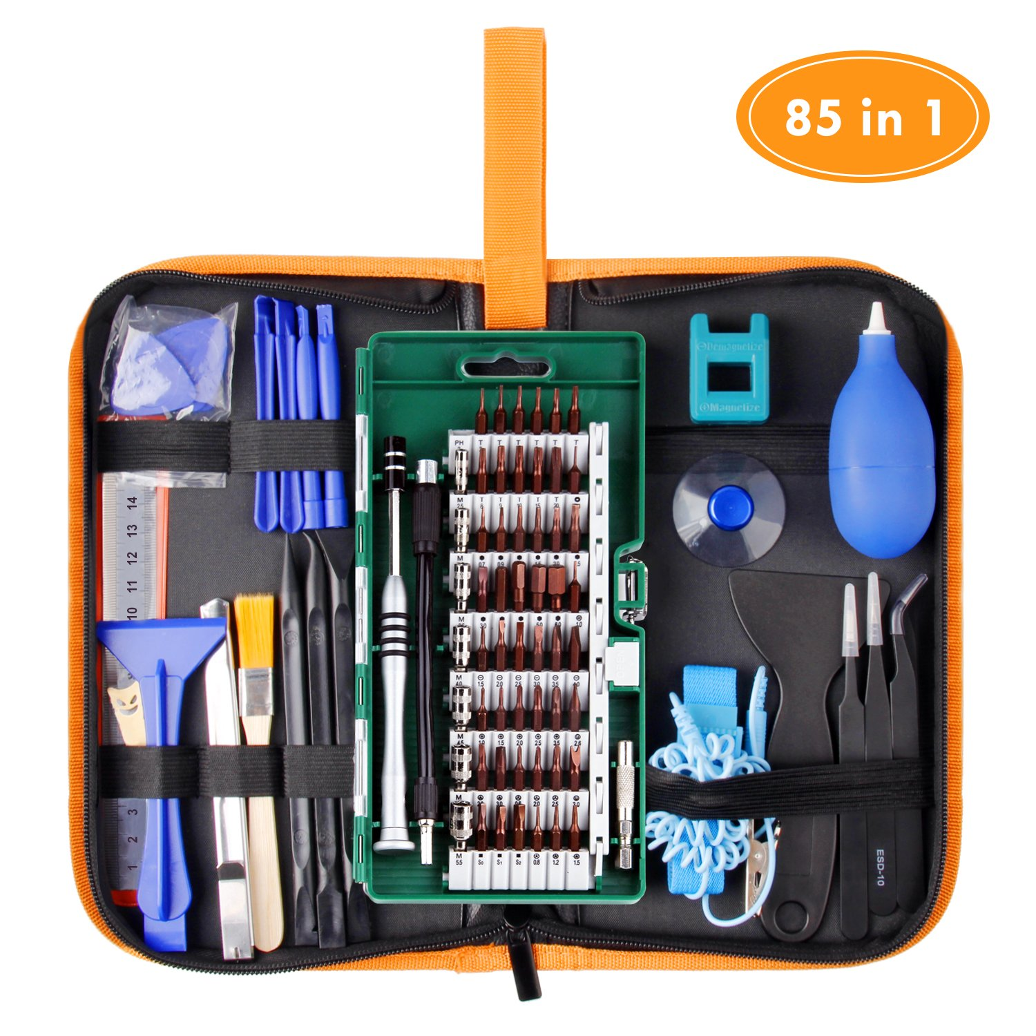 WOWGO Precision Screwdriver Set, 85 in 1 Cell Phone Repair Tool Kit, Magnetic Driver Kit with Portable Bag for iPad, PC, Laptop,Watch