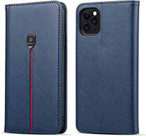 "WenBelle for iPhone 11 Pro (5.8 inch) Wallet Case,Durable and Slim, Lightweight with Classic Design,Kickstand,Card Slot,PU Leather Flip Cases for Apple iPhone 11 Pro 5.8""(2019) (Blue)"