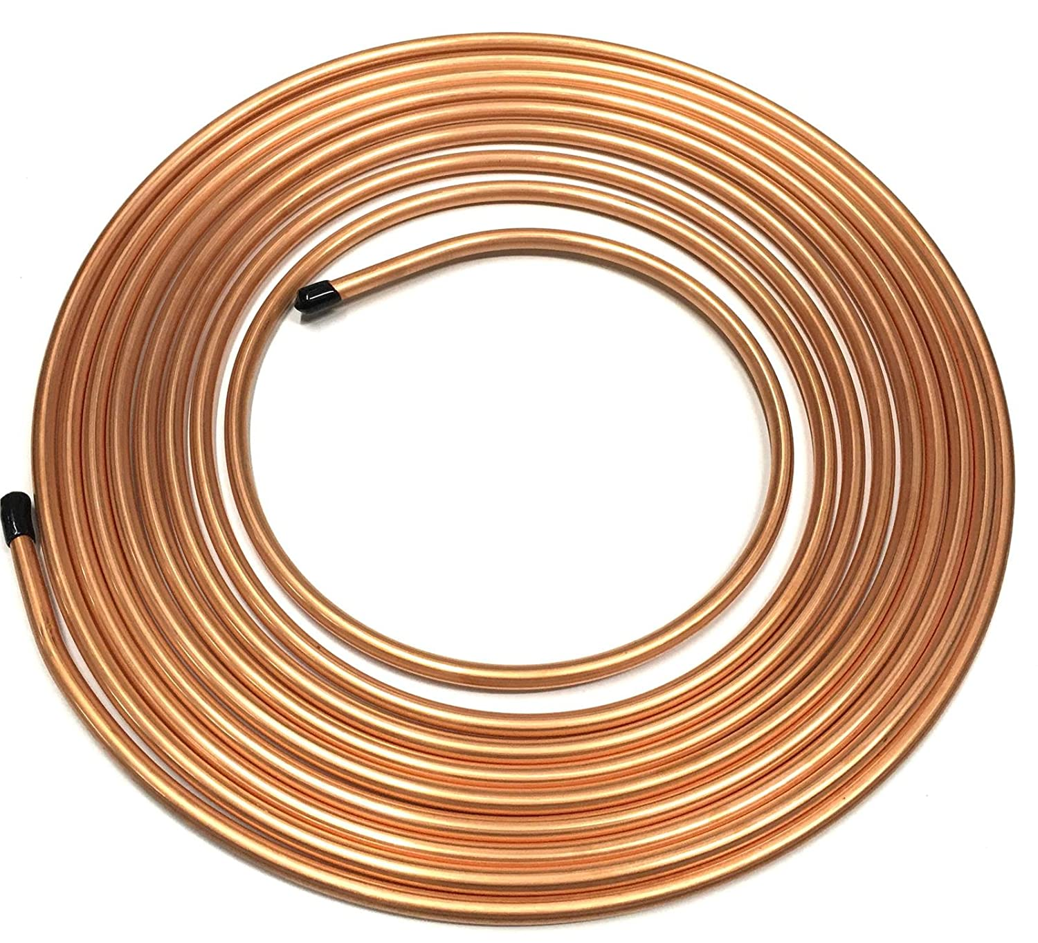 Brake Pipe Copper Line 5/16' 25Ft Joiner Male Female Nuts Ends Tubing Joint Pipe AutoPower