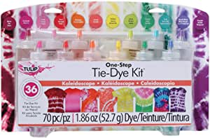 Tulip DC31680 One Step Tie-Dye Kit 12 Colour Super Big, Kaleidoscope