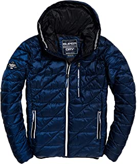 Cromoncent Mens Thicken Fleece Hoodid Quilted Casual Pocket Jacket Parka Coat