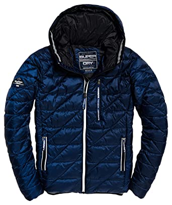 Superdry Men's Down Coat, L Blue at Amazon Men's Clothing store