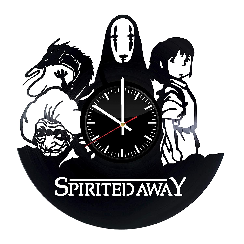 Amazon Com Spirited Away Vinyl Record Clock Wall Art Decor Gift Handmade