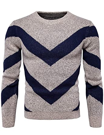 23d017241 Mens Cotton Blend Crew Neck Jumper Knitted Sweater Pullover Long Sleeved  Top Khaki S: Amazon.co.uk: Clothing