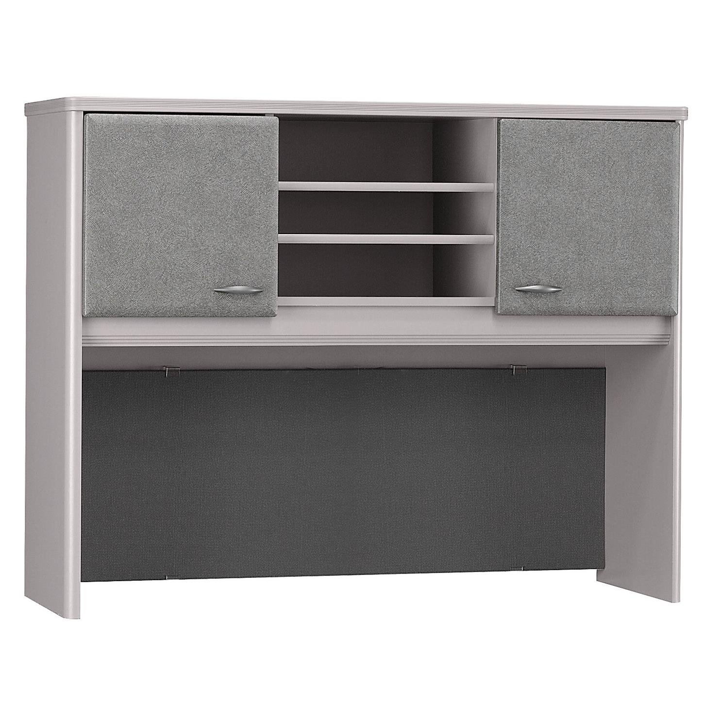 Bush Business Furniture Series A Collection 48W Hutch in Pewter
