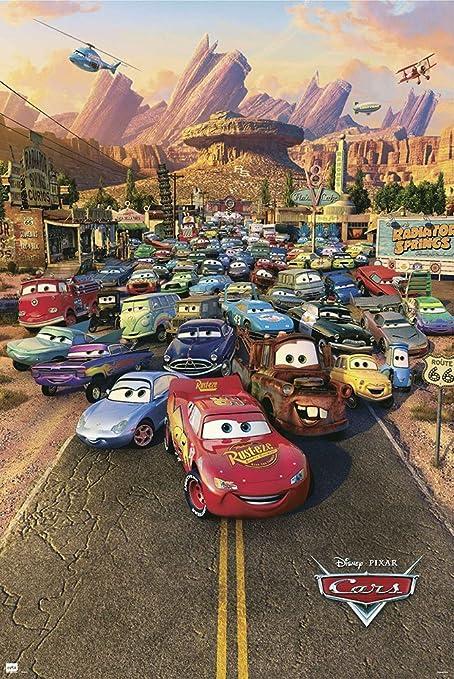 amazon com cars disney pixar movie poster print regular