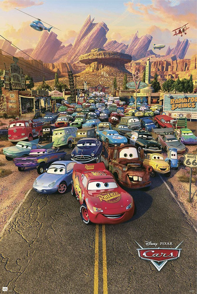 Cars - Disney / Pixar Movie Poster / Print (Regular Style) (Size: 24'' x 36'') (By POSTER STOP ONLINE)
