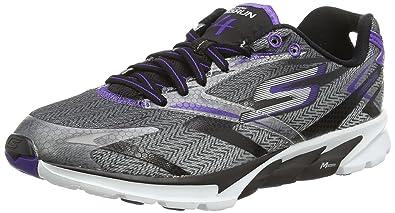 Skechers Women's Go Run 4 Black and Purple Running Shoes - 4 UK/India (