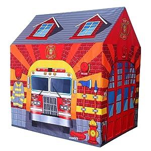POCO DIVO Fire Station Play Tent Kids Pretend Playhouse