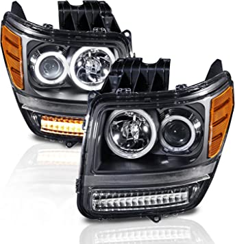 AmeriLite Black Replacement Parking Turn Signal Lights Set for Chevy Silverado Suburban Tahoe Passenger and Driver Side