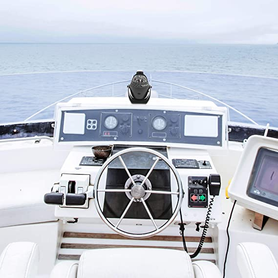 Electronic Sea Compass Suction Cup Illuminated Dashboard Compass Ship TurnOnSport Boat Compass Dash Mount Flush Navigation Marine Compass Boats Surface Mount Boating Compass Dashboard Suction