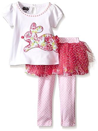 fec7f3995 Amazon.com: Mud Pie Baby Girls' 2 Piece Bunny Tutu Set: Clothing