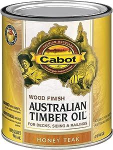 Cabot 140.0019458.005 Australian Timber Oil, Quart, Honey Teak