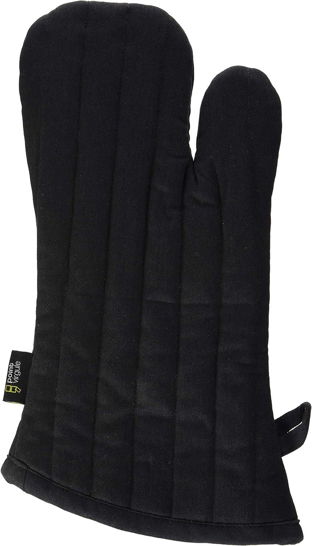 A'Domo PV-TEX-2098 Point-Virgule - Guante para horno, algodón, color negro