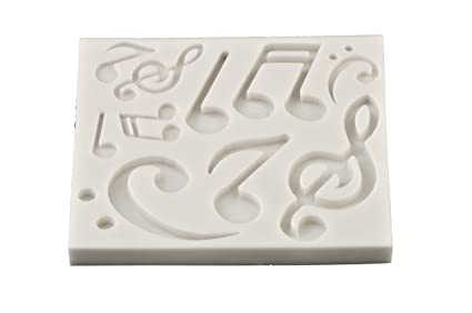 FPC Sugarcraft - Molde de silicona de notas musicales, para fondant, resina, cera