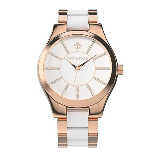 Timothy Stone Collection Charme Bicolor - Reloj Mujer de Cuarzo, Color Oro Rosa 40mm: Amazon.es: Relojes
