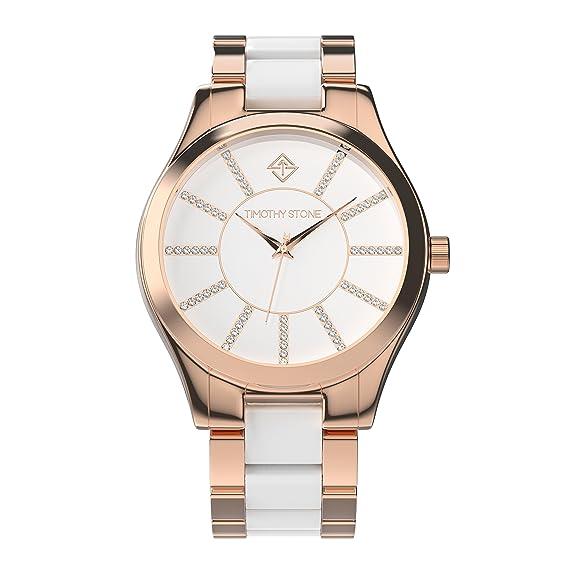 Timothy Stone Collection Charme Bicolor - Reloj Mujer de Cuarzo, Color Oro Rosa 40mm